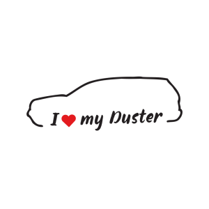 Стикер за кола - I love my Dacia Duster