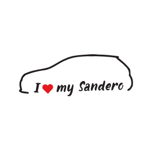 Стикер за кола - I love my Dacia Sandero