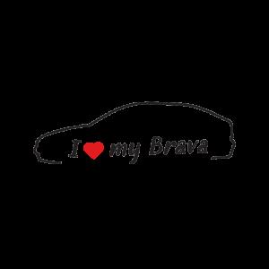 Стикер за кола - I love my Fiat Brava