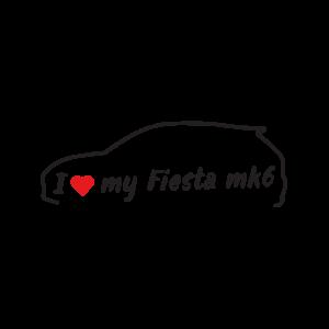 Стикер за кола - I love my Ford Ford Fiesta MK6