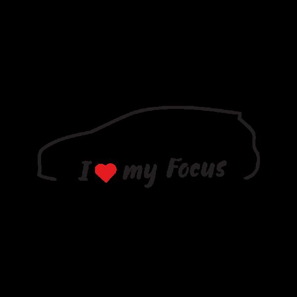 Стикер за кола - I love my Ford Fiesta MK7