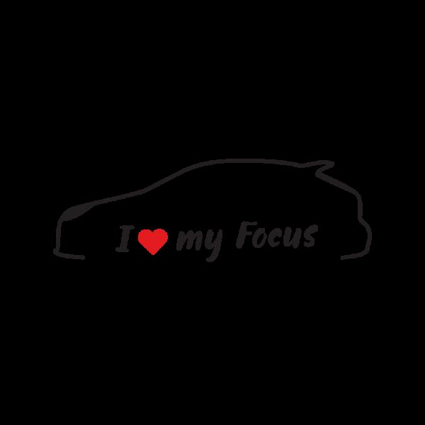 Стикер за кола - I Love my Ford Focus