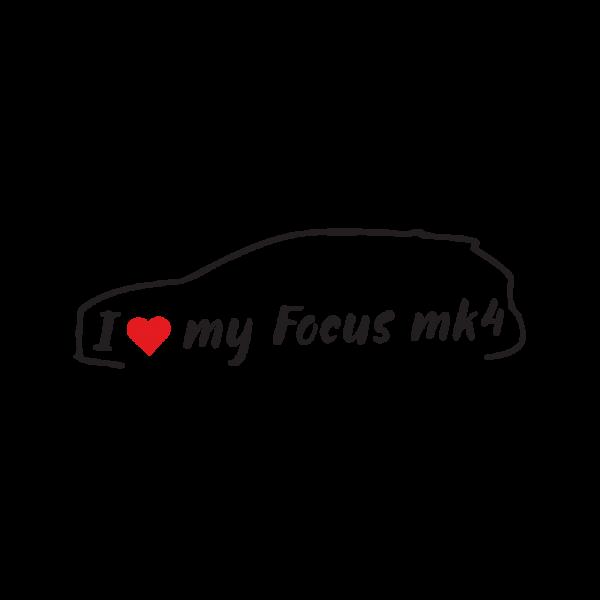 Стикер за кола - I love my Ford Focus MK4