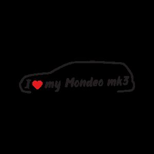 Стикер за кола - I love my Ford Mondeo MK3