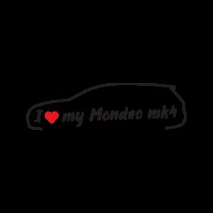 Стикер за кола - I love my Ford Mondeo MK4
