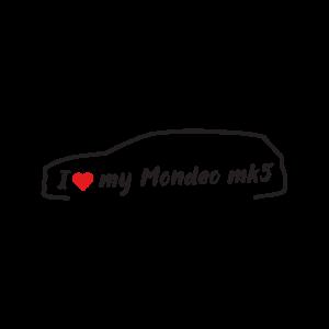 Стикер за кола - I love my Ford Mondeo MK5