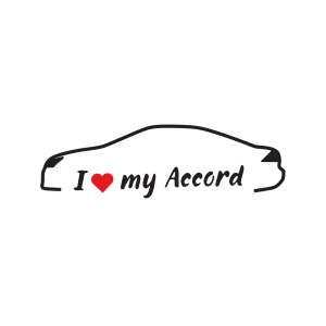 Стикер за кола - I Love my Honda Accord