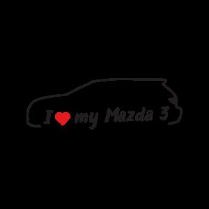 Стикер за кола - I love my Mazda 3