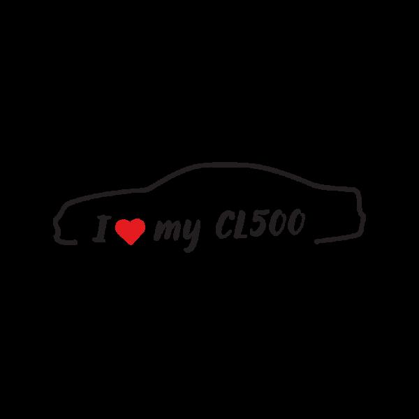 Стикер за кола - I love my CL500 02-06
