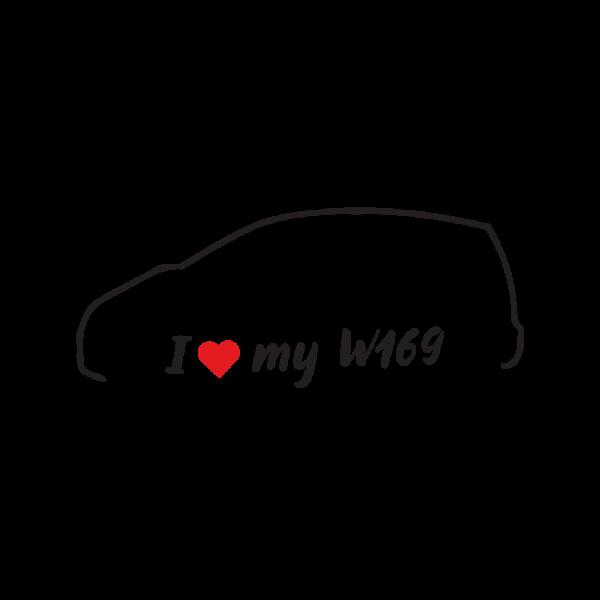 Стикер за кола - I Love my Mercedes W169