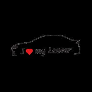 Стикер за кола - I Love my Mitsubishi Lancer