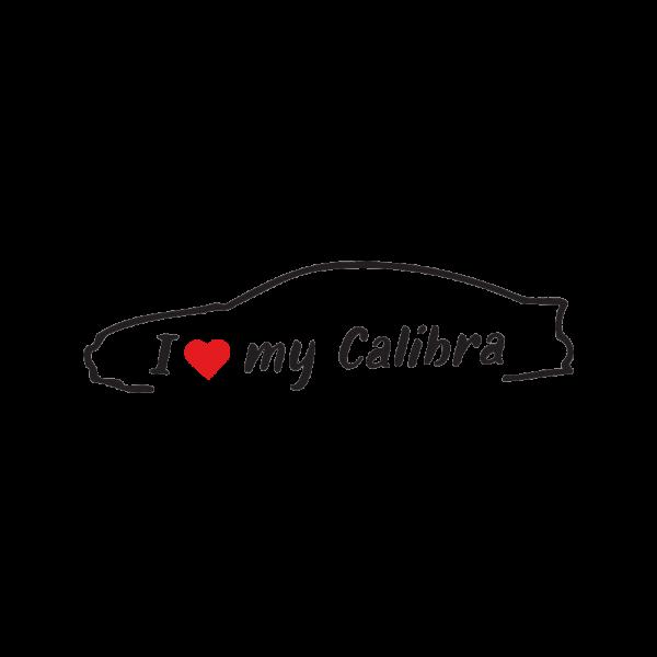 Стикер за кола - I love my Opel Calibra