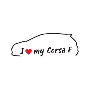 Стикер за кола - I love my Opel Corsa E