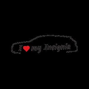 Стикер за кола - I love my Opel Insignia