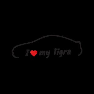 Стикер за кола - I love my Opel Tigra