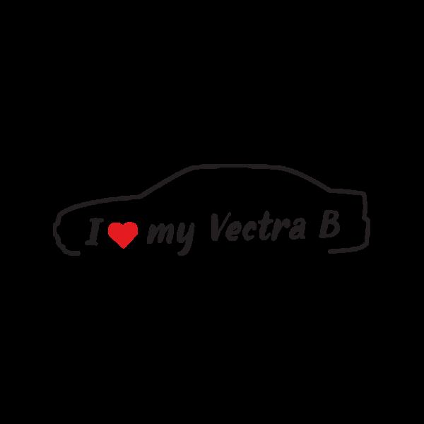 Стикер за кола - I Love my Opel Vectra B