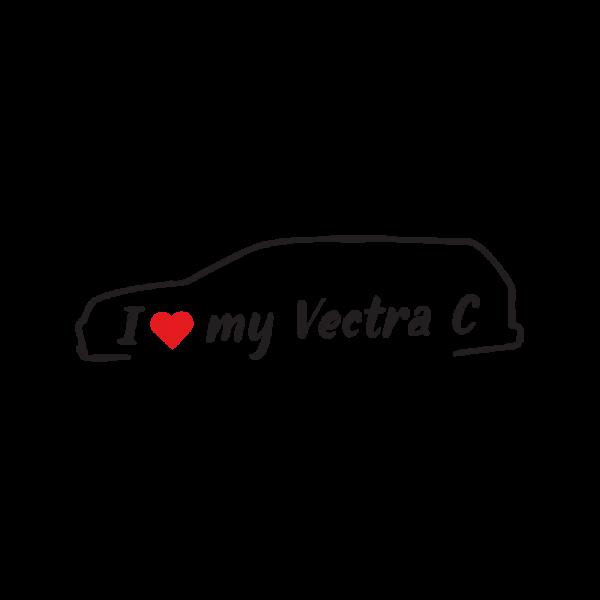 Стикер за кола - I love my Opel Vectra C