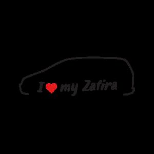 Стикер за кола - I love my Opel Zafira A