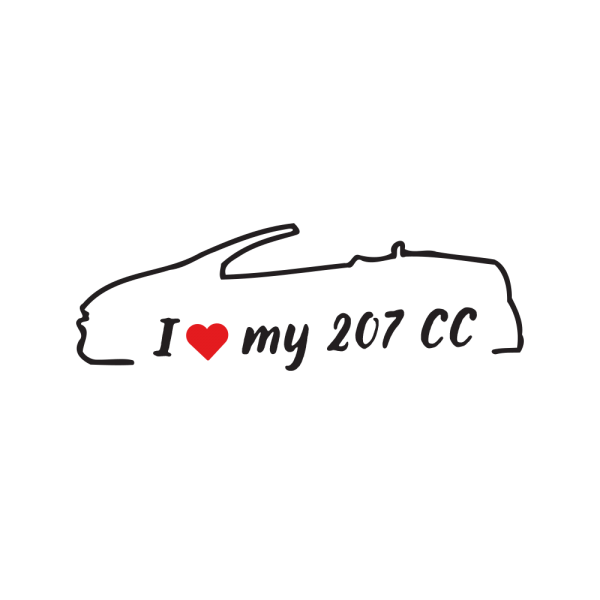Стикер за кола - I love my Peugeot 207 CC