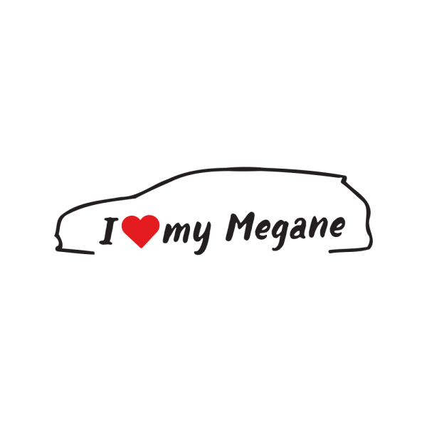 Стикер за кола - I love my Renault Megane 4