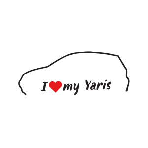 Стикер за кола - I love my Toyota Yaris