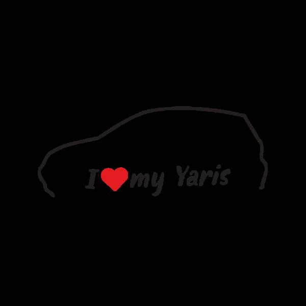 Стикер за кола - I love my Toyota Yaris