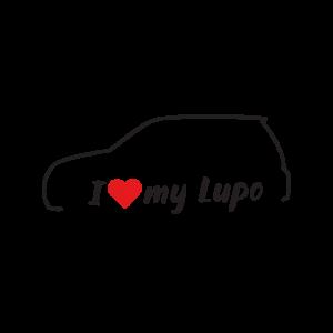 Стикер за кола - I love my VW Lupo