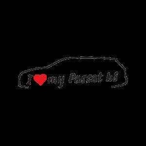 Стикер за кола - I love my vw Passat B8