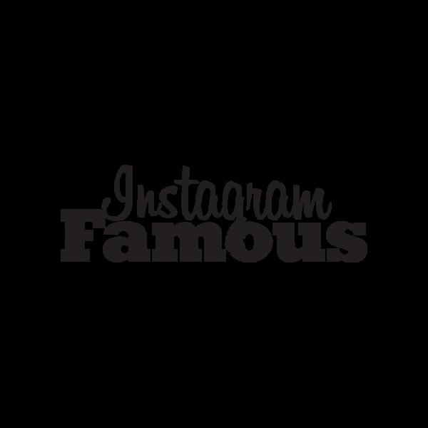 Стикер за кола Instagram Famous