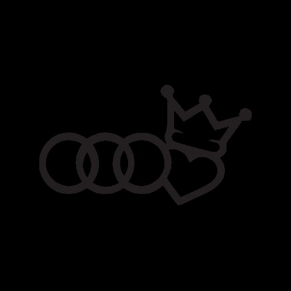 Стикер за кола Audi King 01
