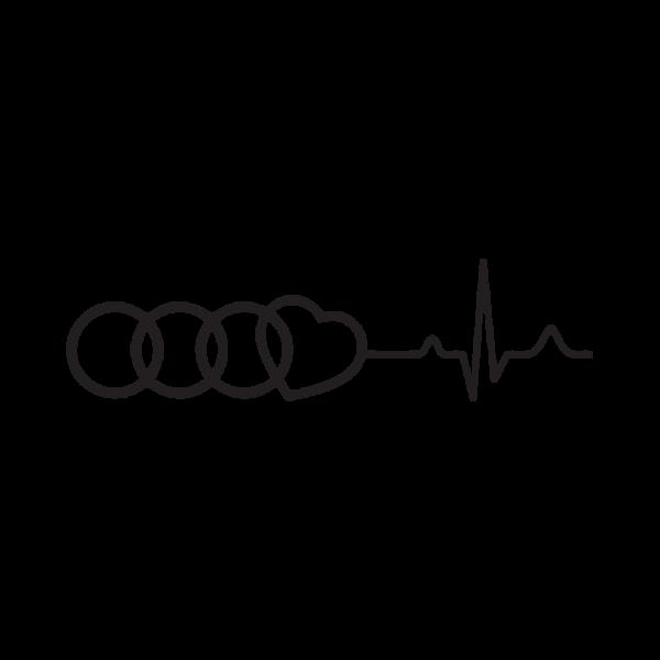 Стикер за кола Audi любов