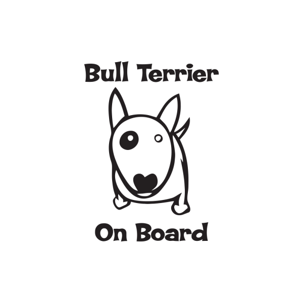 Стикер за кола Bull Terrier on board
