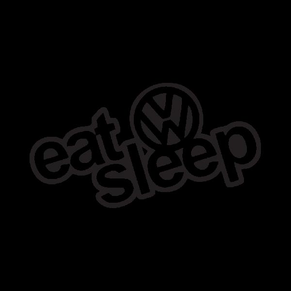 Стикер за кола Eat Sleep VW