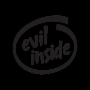 Стикер за кола Evil inside