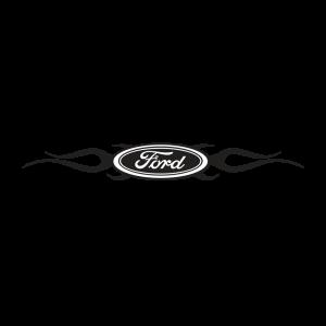 Стикер за кола Ford Лого в пламъци