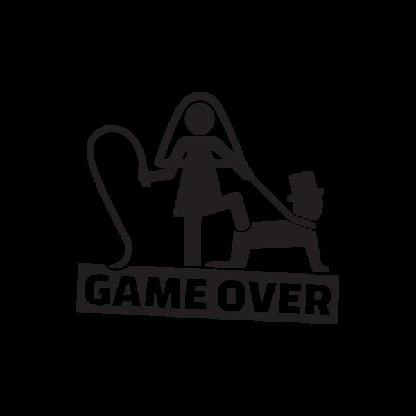 Стикер за кола Game Over