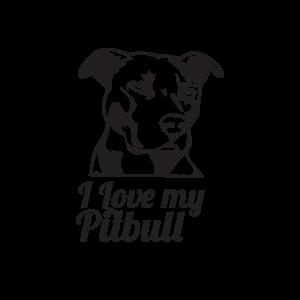 Стикер за кола I love my Pitbull