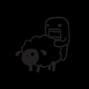 Стикер за кола Monster and sheep