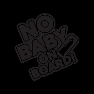 Стикер за кола No Baby on Board