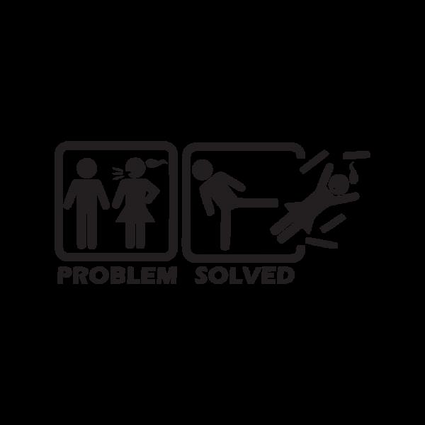 Стикер за кола Problem Solved