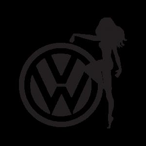 Стикер за кола VW Girl
