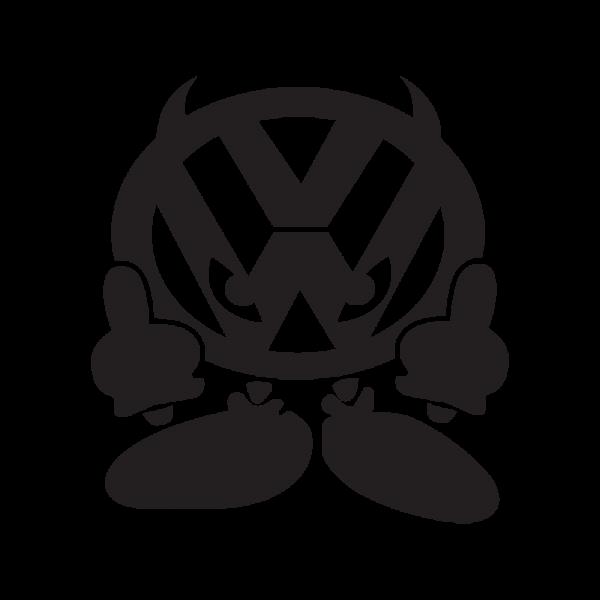 Стикер за кола Devil VW