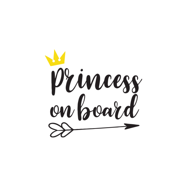 Стикер за кола - Princess on Board